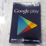 Google Play Gift Card บัตรของขวัญสำหรับสาวก Android