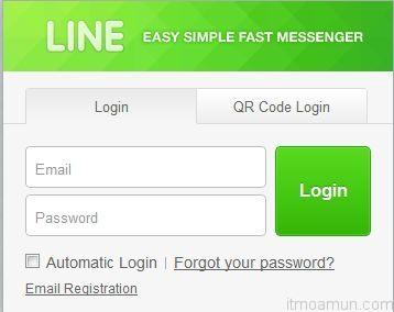 Line on Web Browser
