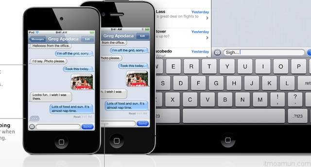 iMessage แทน SMS