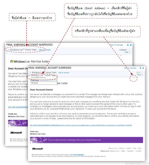 บัญชีอีเมลปลอม