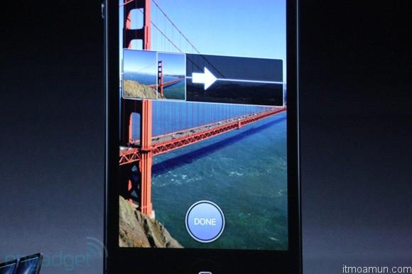 ฟังก์ชั่น Sweep Panorama บน iPhone 5
