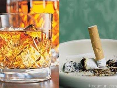 เหล้าและบุหรี่