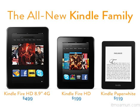 Amazon Kindle, Kindle Family