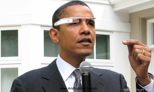 Google Glass Obama