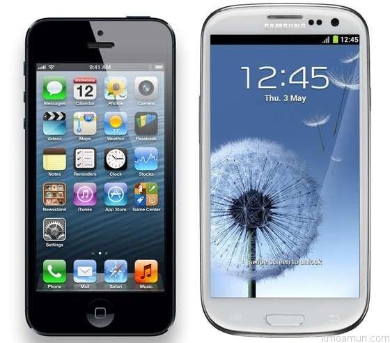 Samsung Galaxy S3 กับ Apple iPhone 5