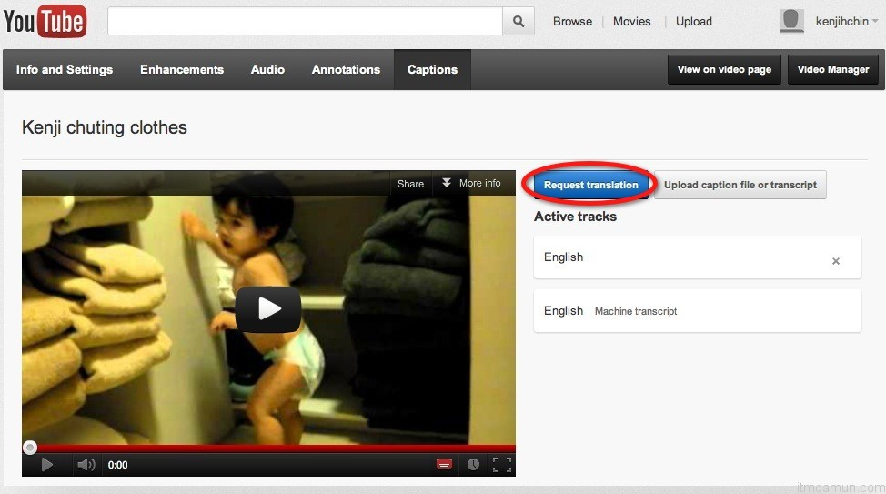 Youtube add Google Translation
