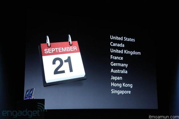 iPhone 5 วันที่ขายและจอง