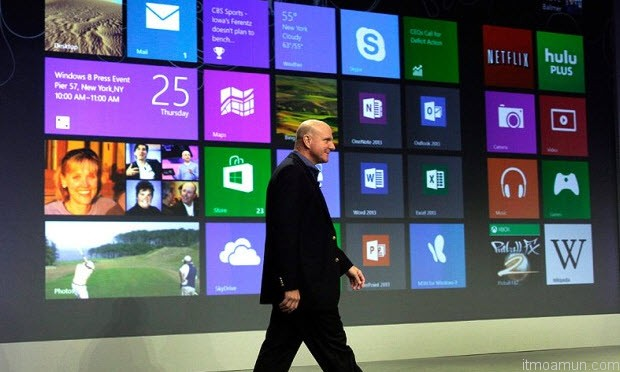 สตีฟ บอลเมอร์ ในงานเปิดตัว Windows 8