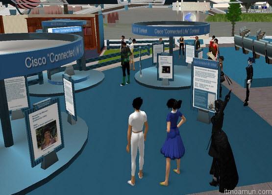 CISCO Virtual World สำหรับแนะนำผลิตภัณฑ์ของบริษัท