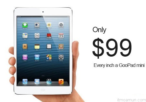 GooPad Mini เเท็บเล็ตถอดแบบจาก iPad Mini