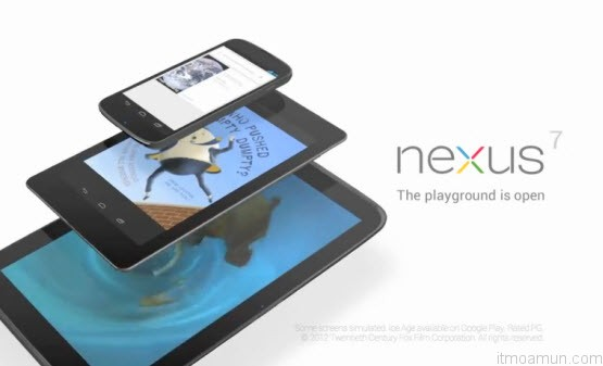 Google สมาร์ทโฟน Nexus 4 และแท็บเล็ต Nexus 7 ,Nexus 10