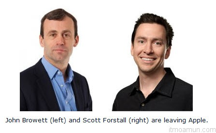 John Browett และ Scott Forstal สองผู้บริหารที่ลาออกจากเพิ่ง Apple