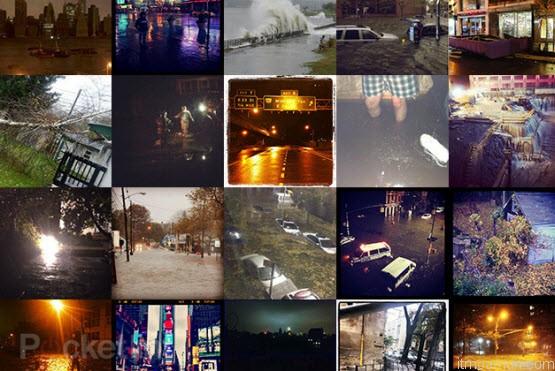 รูปภาพ  Hurricane Sandy ที่ถูกโพสขึ้นใน Instagram
