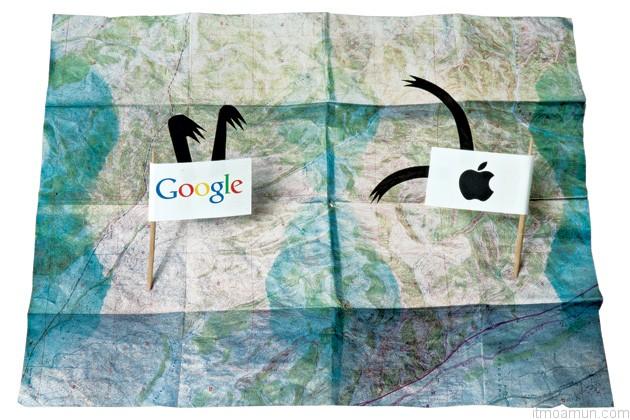 แผนที่แอปเปิ้ลและแผนที่ของกูเกิ้ล