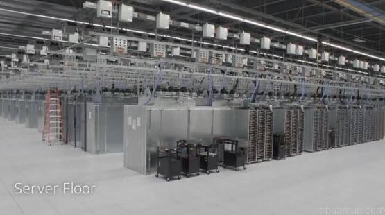 Google Data Center ที่ Lenoir, NC ห้อง Server Floor