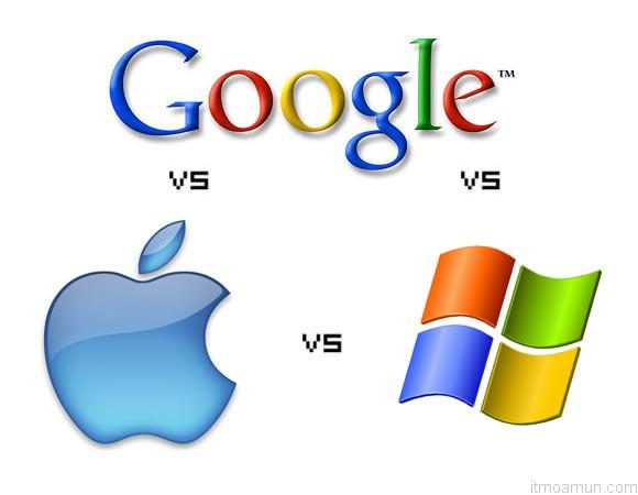 Google vs Microsoft vs Apple
