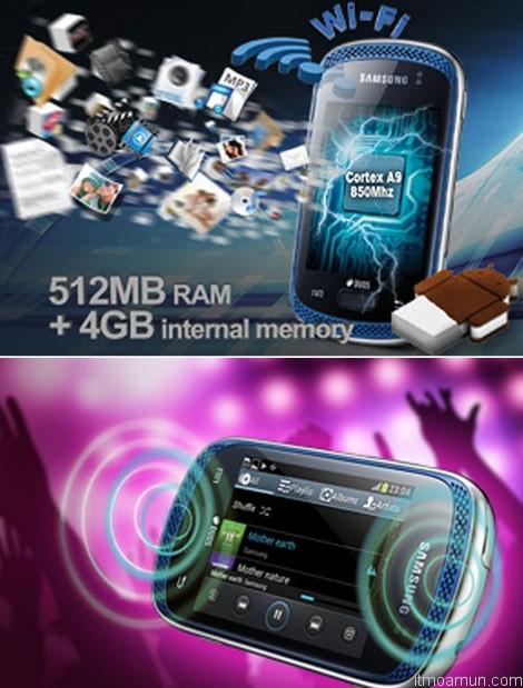 Samsung Galaxy Music มือถือ 2 ซิม