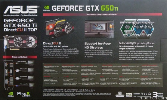 ASUS GeForce GTX 650 Ti DirectCU II Review