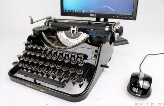 คีบอร์ดเครื่องพิมพ์ดีด USB Typewriter