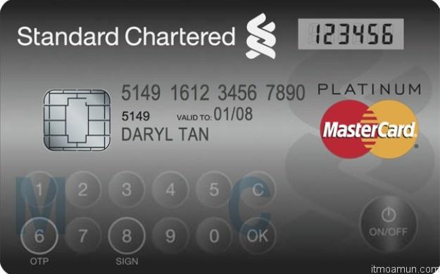 LED Credit card mastercard standard chartered