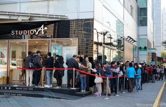 ร้าน Studio A เปิดจำหน่าย iPhone 5 ในไทเป