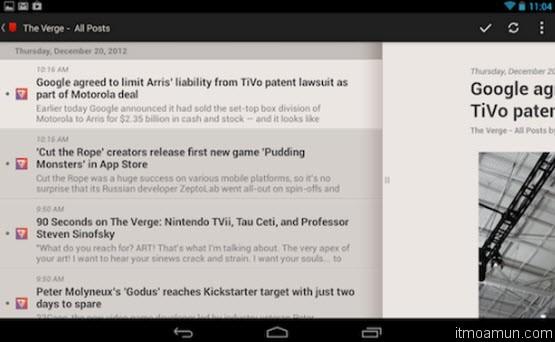 Press for Android แอพพลิเคชั่นอ่านข่าว