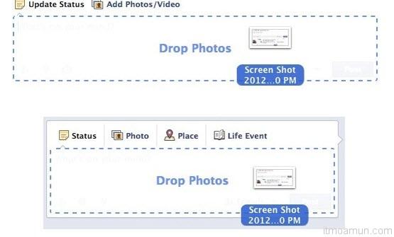 Facebook ทดลองเพิ่ม drag-and-drop ในระบบ Timeline