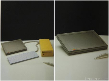 "An Apple ""Tablet Mac"" design from 1982"