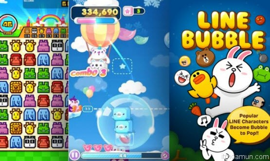 LINE BUBBLE, LINE IceQpick และ LINE ZOOKEEPER