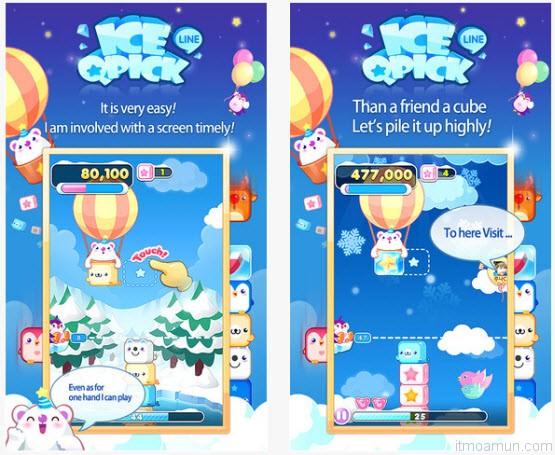 LINE IceQpick เกมเก็บก้อนน้ำแข็ง
