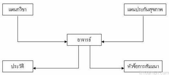 ภาพโครงสร้างฐานข้อมูลแบบเครือข่าย