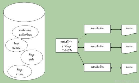 การประมวลผลในระบบจัดการแฟ้มข้อมูล