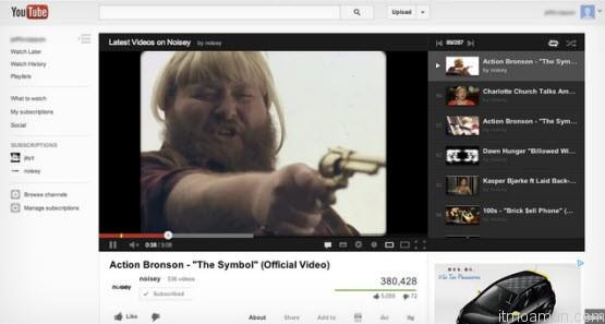 Google debuts YouTube redesign, Google ปรับแต่งหน้า Youtube ใหม่