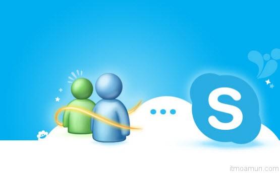 Windows Live Messenger เปลี่ยนเป็น Skype