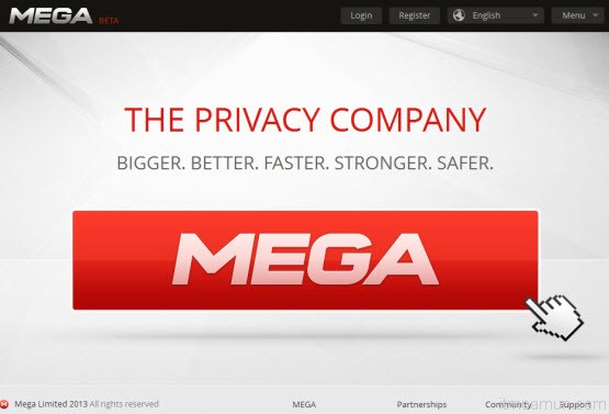 Megaupload บน domain mega.co.nz