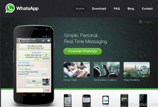 โปรแกรม Chat ผ่านมือถือ WhatsApp