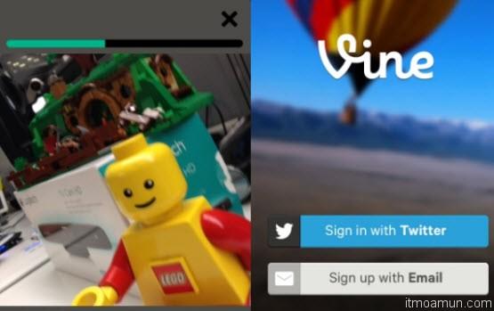 Vine แอปพลิเคชันวิดีโอแชริ่ง Vine Application Twitter