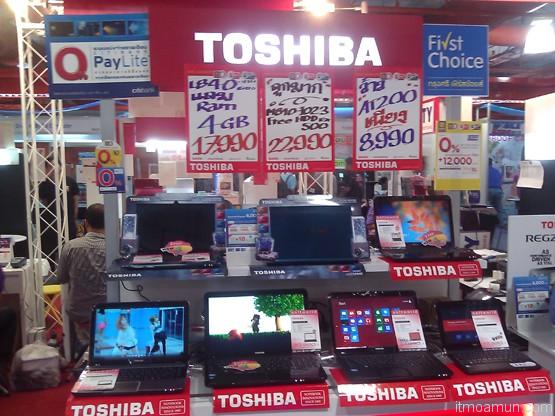 บูธ TOSHIBA ในงาน thailand mobile expo 2013