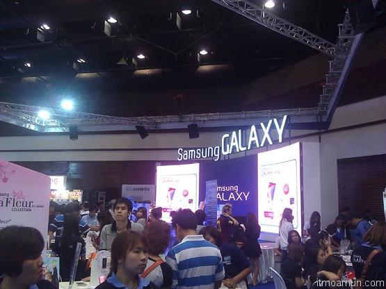 บูต Samsung ในงาน thailand mobile expo 2013