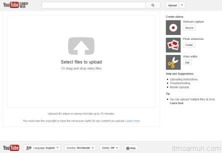 YouTube Upload วิดีโอ
