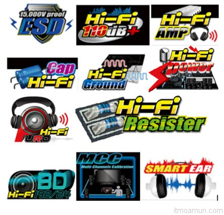 เมนบอร์ด Hi-Fi Puro Technology , Integrate Sound Card จาก BIOSTAR