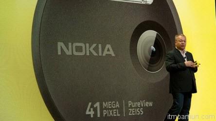 Nokia Lumia 1020 สมาร์ทโฟนกล้อง 41 ล้านพิกเซล Windows Phone