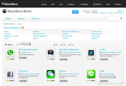 BlackBerry World category