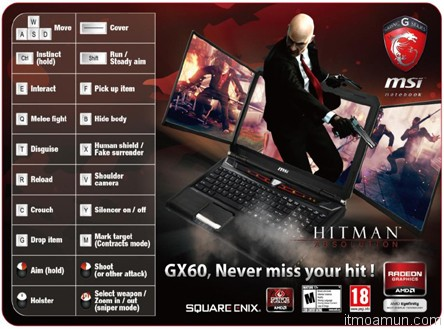 MSI GX60 Hitman