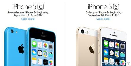 iPhone 5S และ iPhone 5C