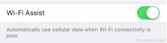 Function Close Low Wi-Fi on iOS 9