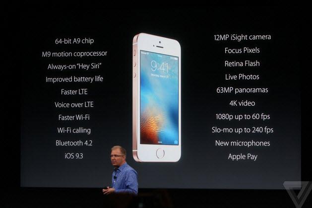 สเปค iPhone SE