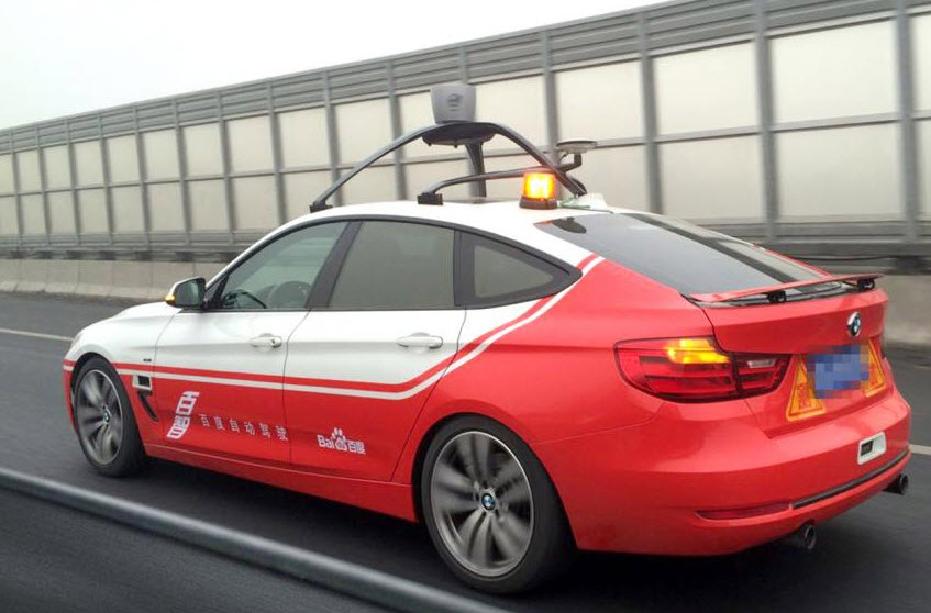 China self-driving cars baido